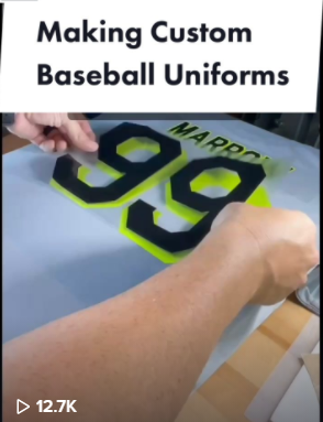 How To Make Custom Baseball Uniforms with Heat Transfer Vinyl