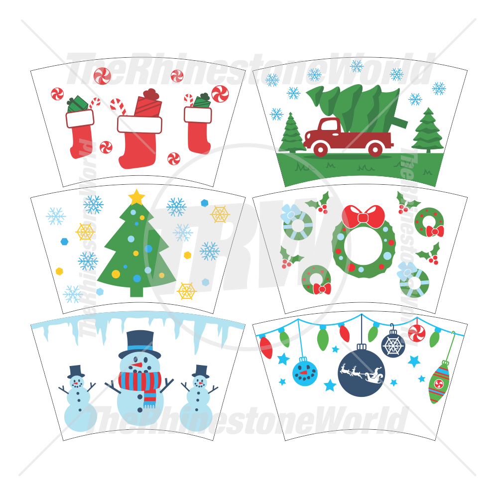 24oz Christmas Cup Mini Pack 2 (With or Without Circle Logo)