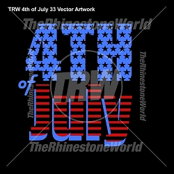 TRW 4th of July 33 Vector Design