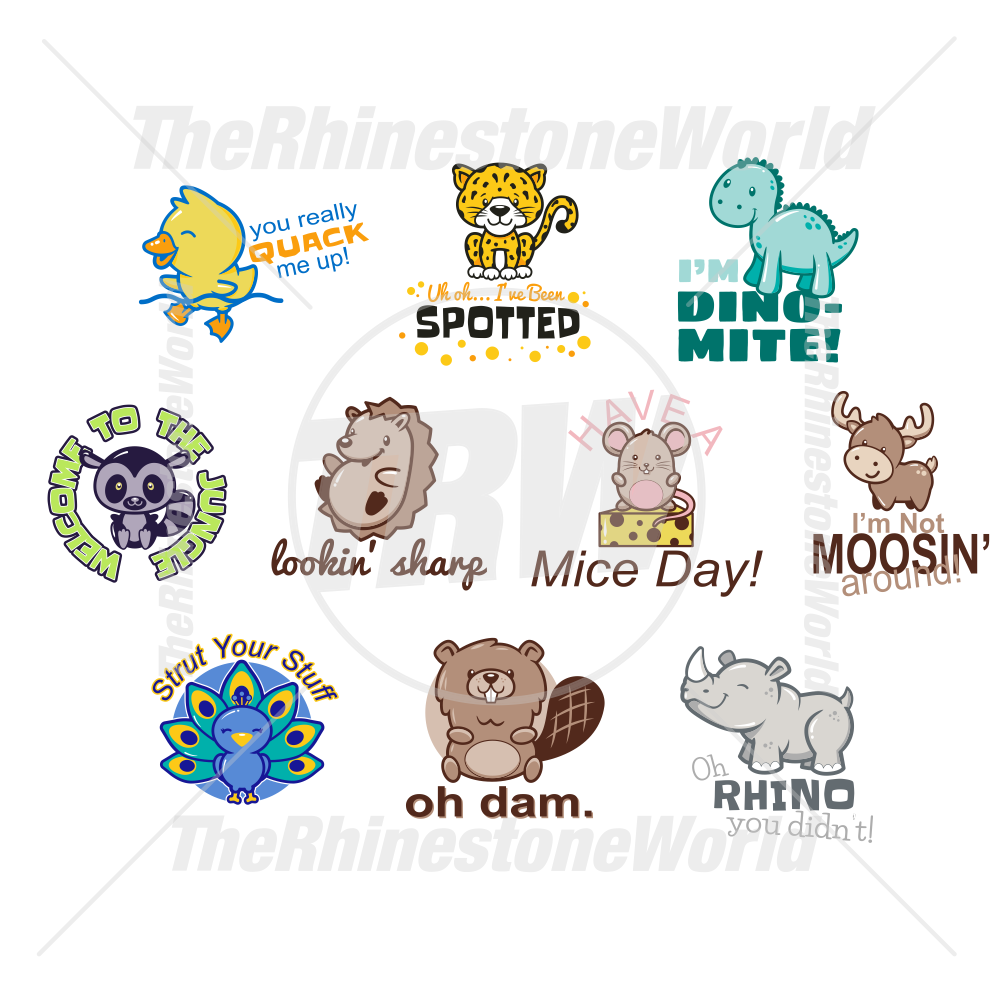Animal Puns Live Template Mini Pack Vol 5