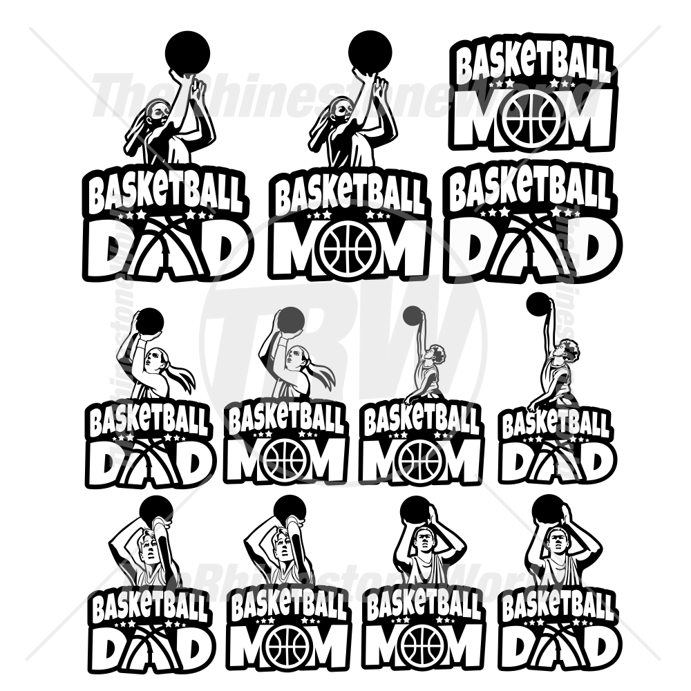 Basketball Parents Decal Mini Pack