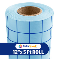 ColorSpark Medium Tack Application Tape - Blue Grid 5 Foot Roll