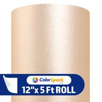 ColorSpark Glitter Textured Adhesive Vinyl - Champagne (5 Foot Roll)