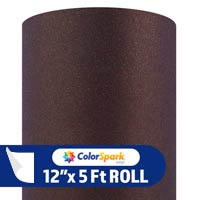 ColorSpark Glitter Textured Adhesive Vinyl - Chocolate (5 Foot Roll)
