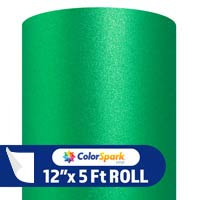 ColorSpark Glitter Textured Adhesive Vinyl - Green (5 Foot Roll)
