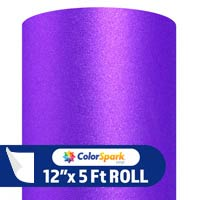 ColorSpark Glitter Textured Adhesive Vinyl - Purple (5 Foot Roll)