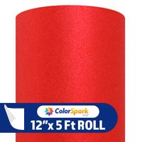 ColorSpark Glitter Textured Adhesive Vinyl - Red (5 Foot Roll)