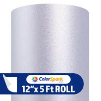 ColorSpark Glitter Textured Adhesive Vinyl - Silver (5 Foot Roll)