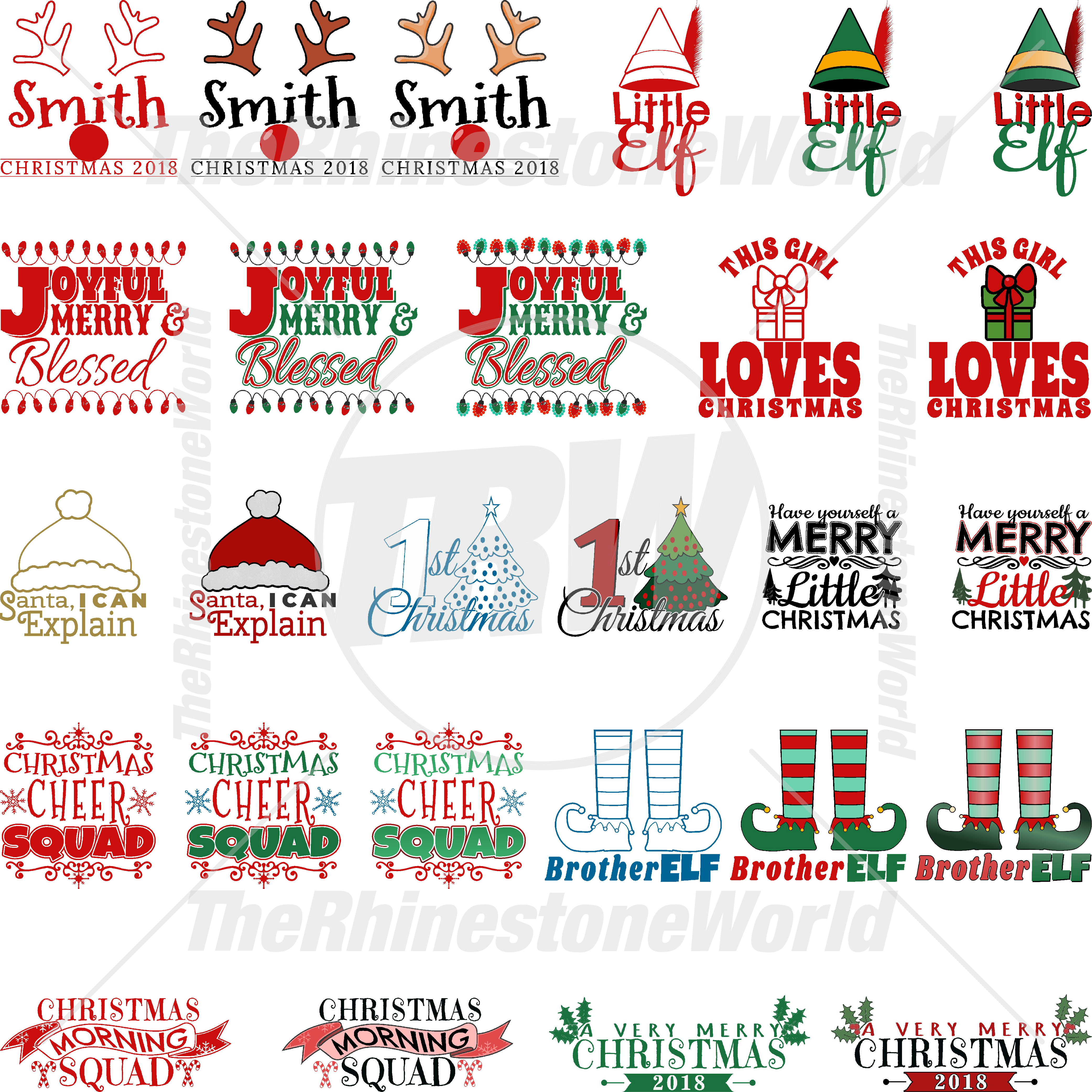 Christmas Live Template Mini Pack