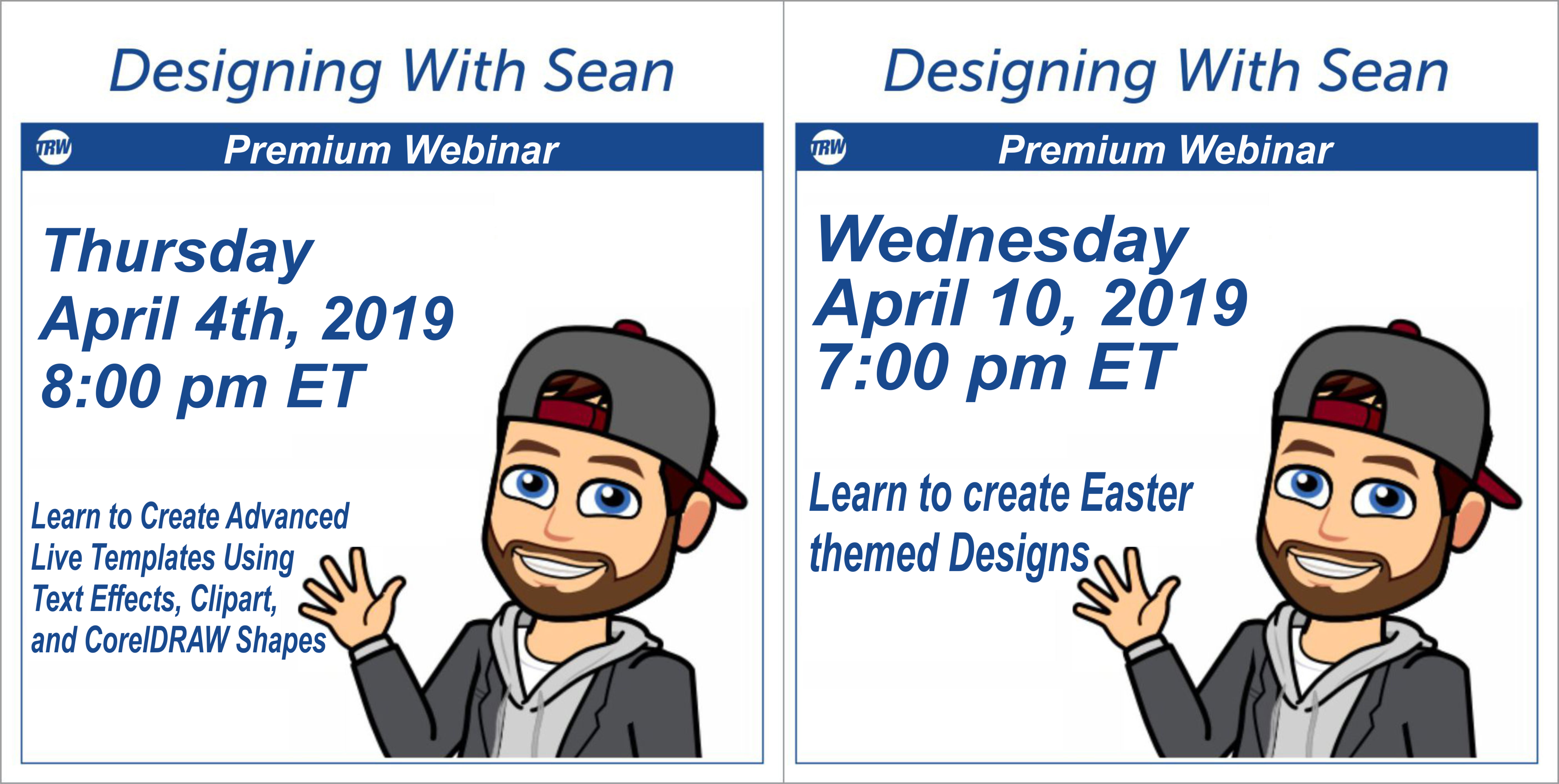 4/4/19 Designing with Sean - Advanced Live Templates and Easter Themed Designs