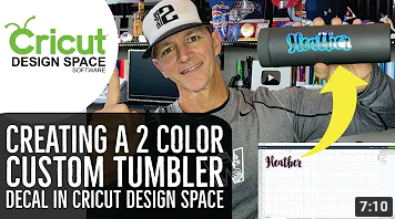 Creating a Layered Tumbler Decal in Design Space with Flutter Shadow | Cricut Design Space Tutorial