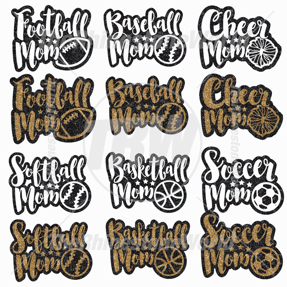 Cute Sports Mom Decal Mini Pack 1