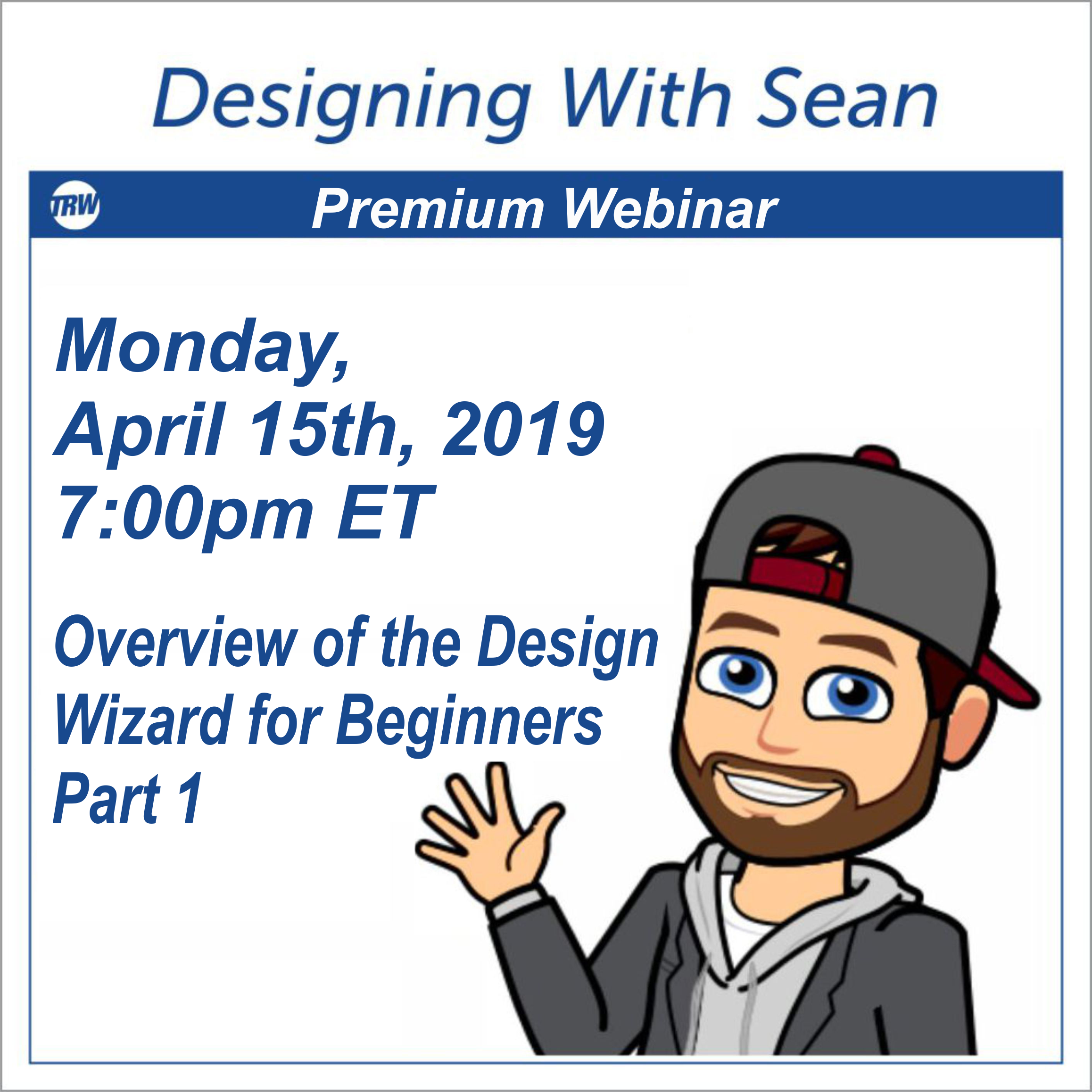 Designing with Sean - April 15, 2019