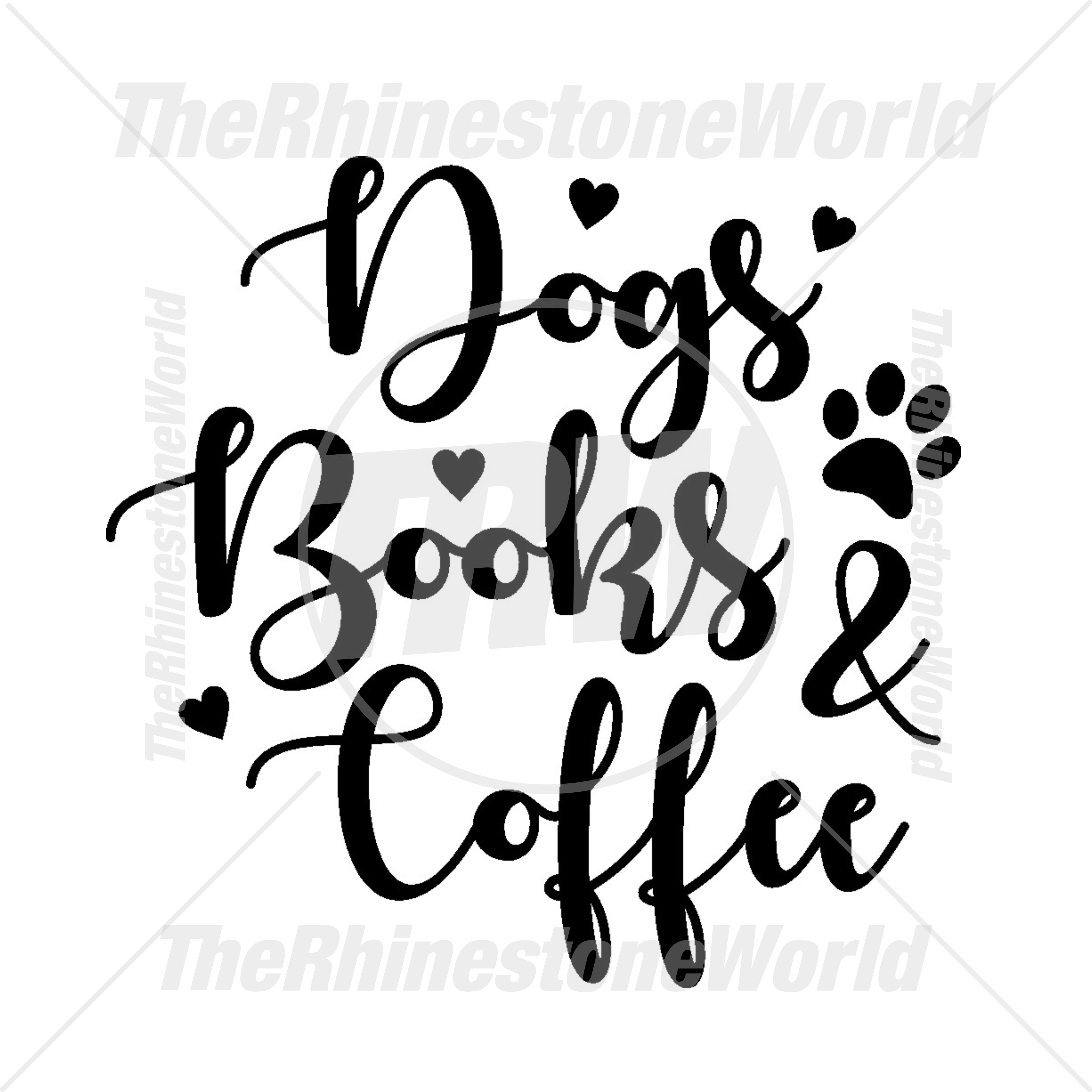 TRW Dog Books and Coffee Vector Design