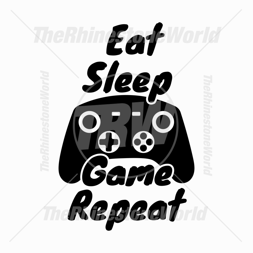 Eat Sleep Game Repeat Vector Design