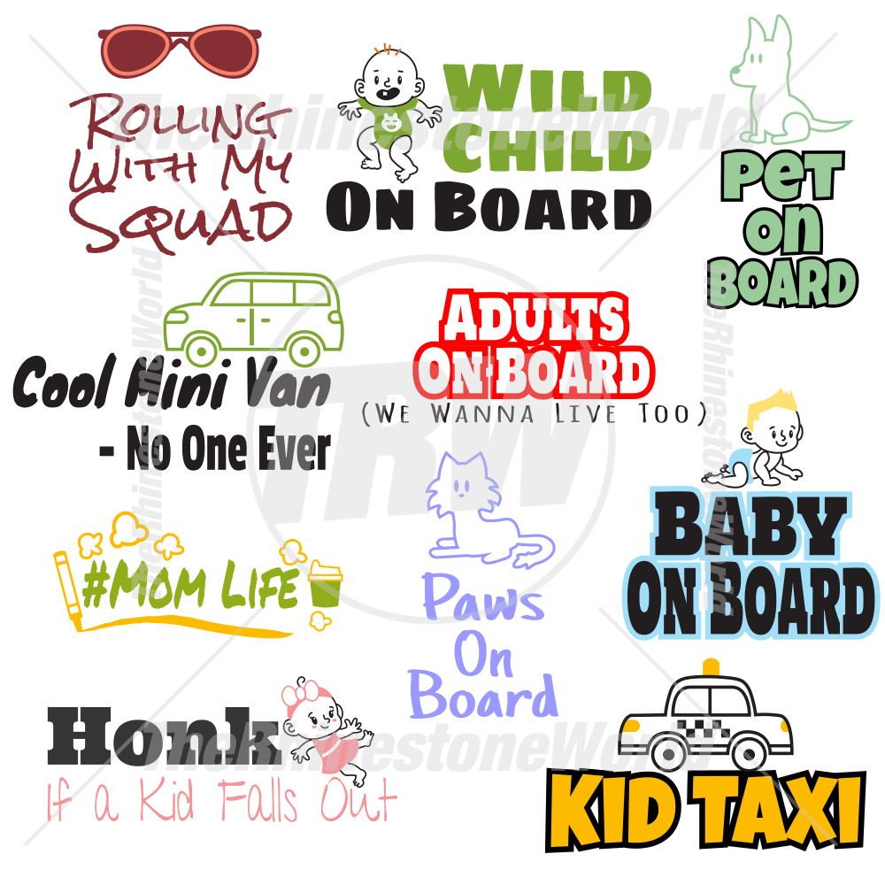 Family Car Decal Live Template Mini Pack 1