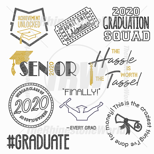 TRW Graduation Rhinestone Mini Pack