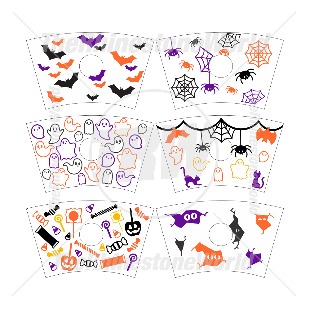 24oz Cup Template Halloween Mini Pack 1