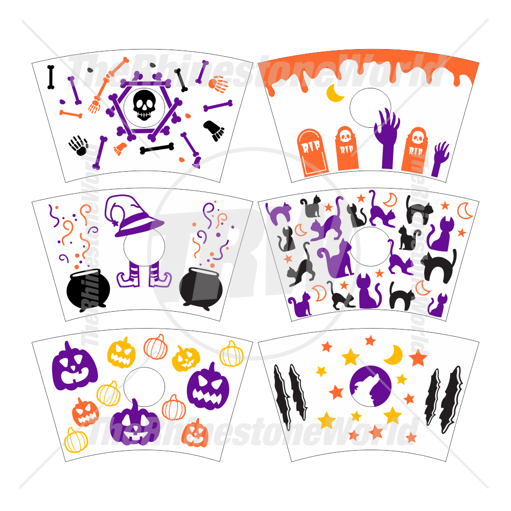 24oz Cup Template Halloween Mini Pack 2