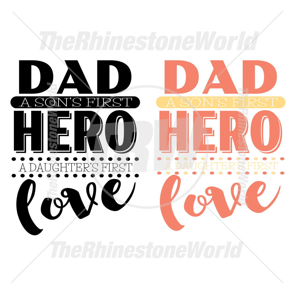 Fathers Day Hero and Love Design