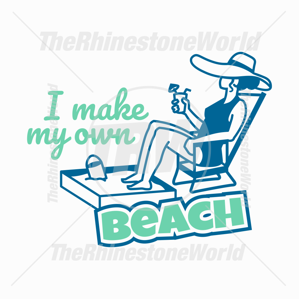 Make My Own Beach Vector Design