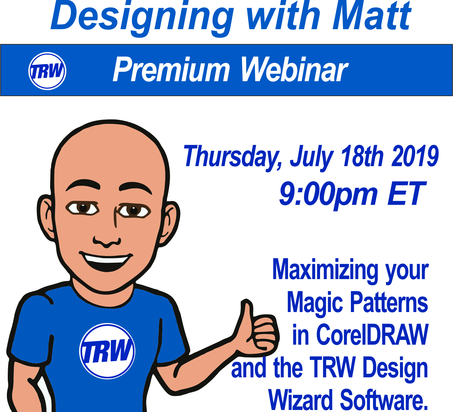 Designing with Matt - 07/18/19 9:00PM ET. Mastering Magic Patterns