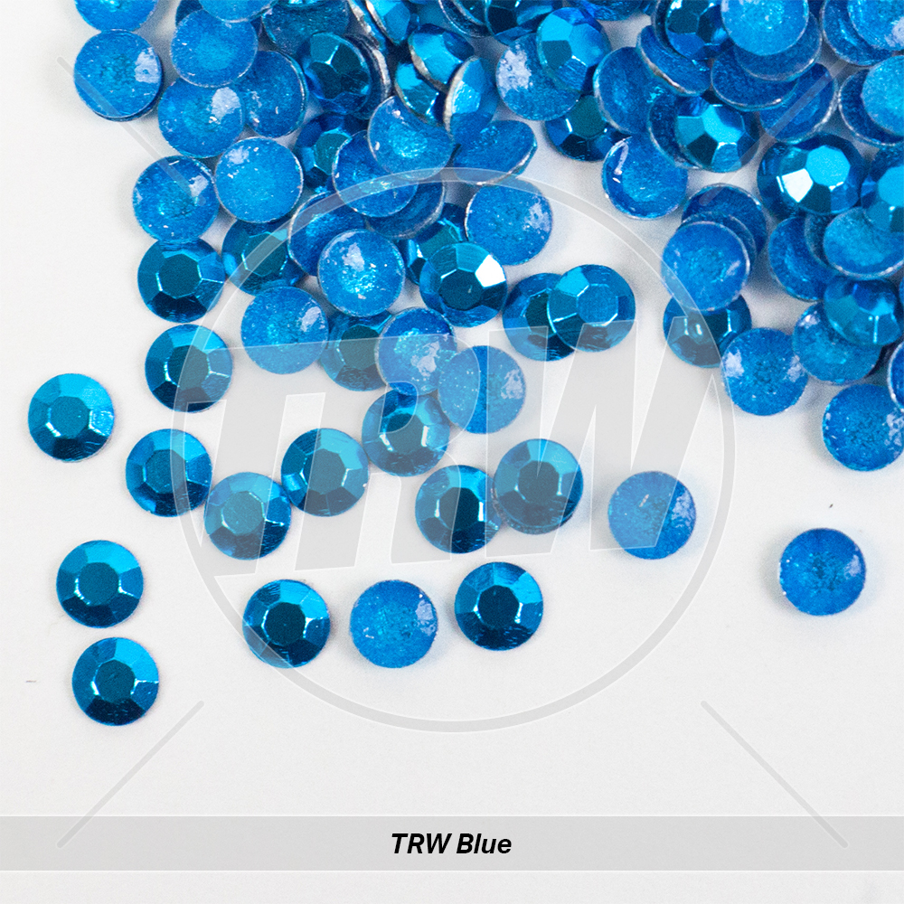 Basic Hot-Fix TRW Blue SS10 Rhinestuds 500-Gross