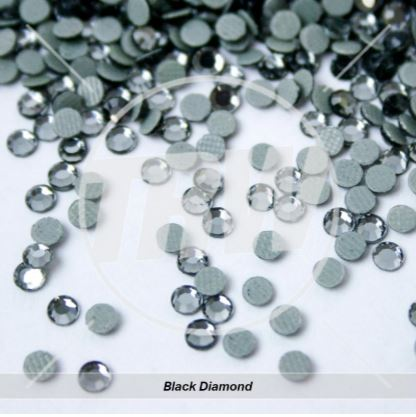 Hot-Fix Black Diamond SS6 Rhinestones 10-Gross