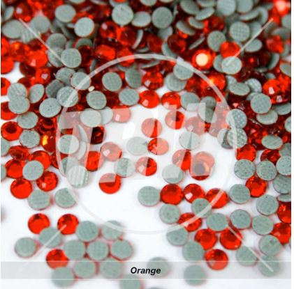 Hot-Fix Orange SS10 Rhinestones 10-Gross