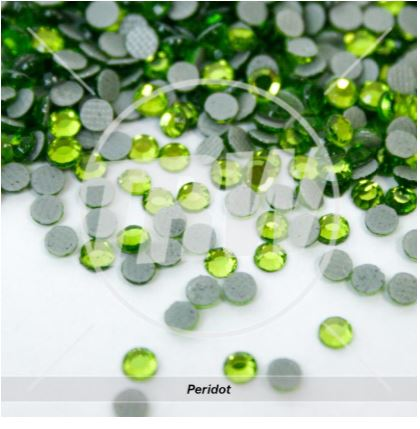 Hot-Fix Peridot SS10 Rhinestones 10-Gross