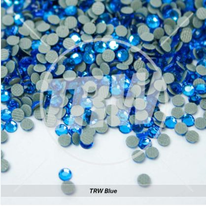 Korean 5A Low Lead Hot-Fix TRW Blue SS6 Rhinestones 25-Gross
