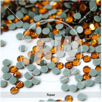 Korean 5A Low Lead Hot-Fix Topaz SS10 Rhinestones 500-Gross
