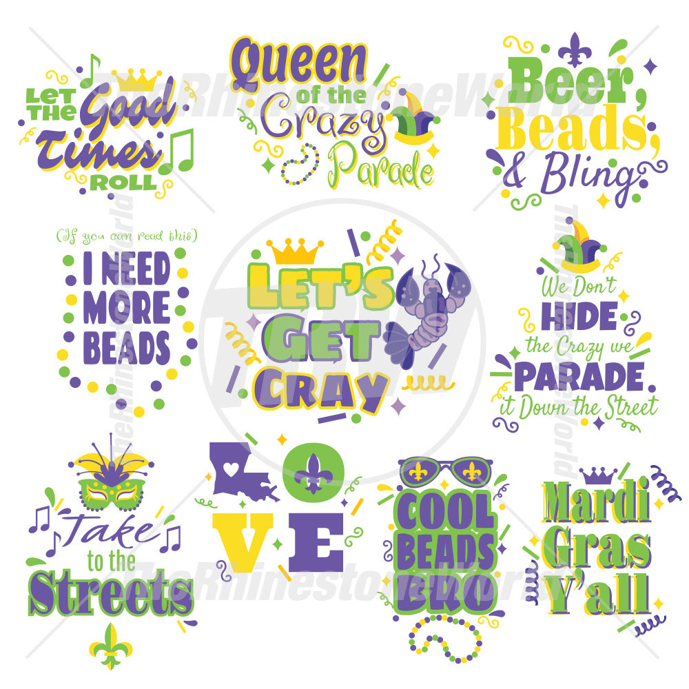 Mardi Gras Live Template Mini Pack