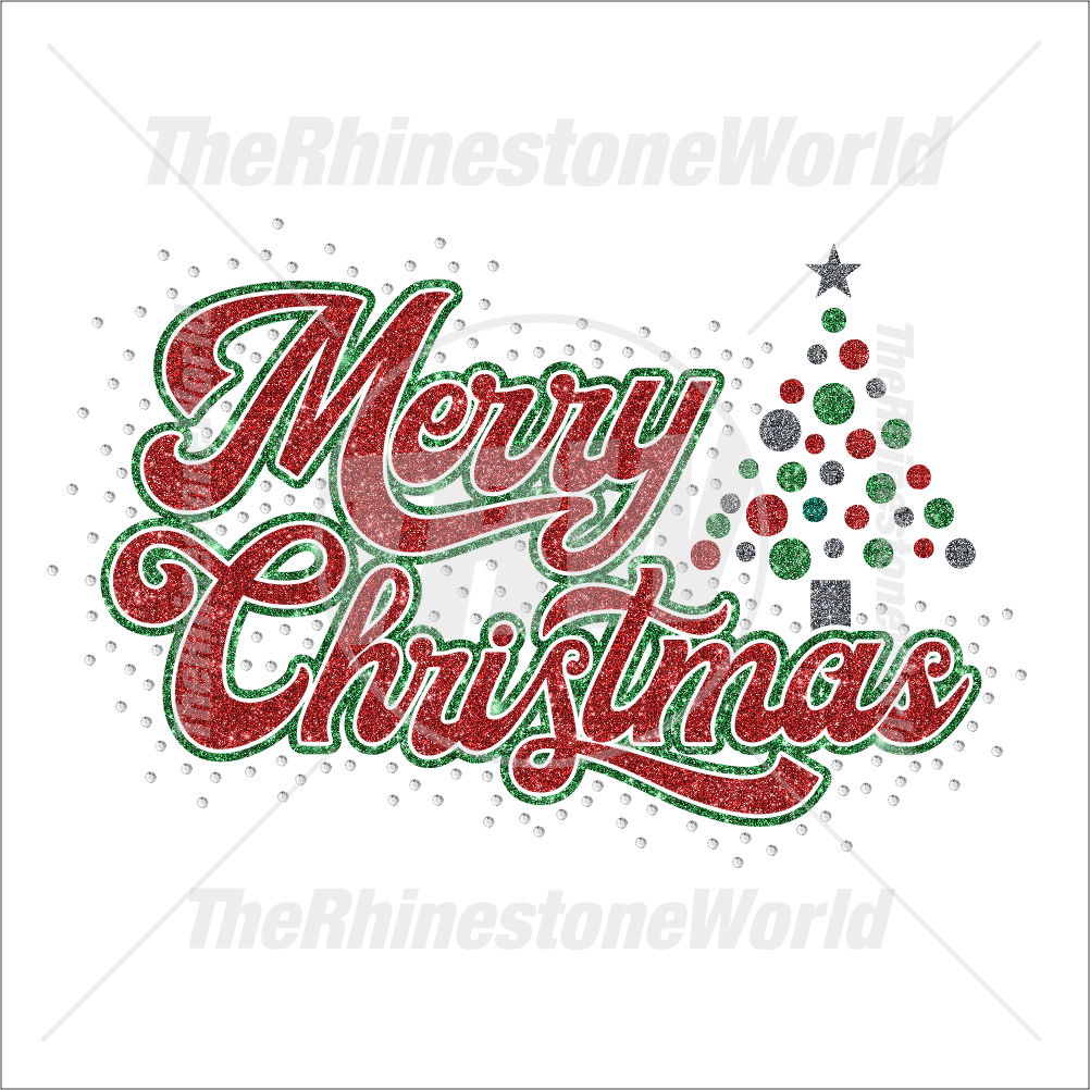 TRW Merry Christmas Script Multi Dec Design