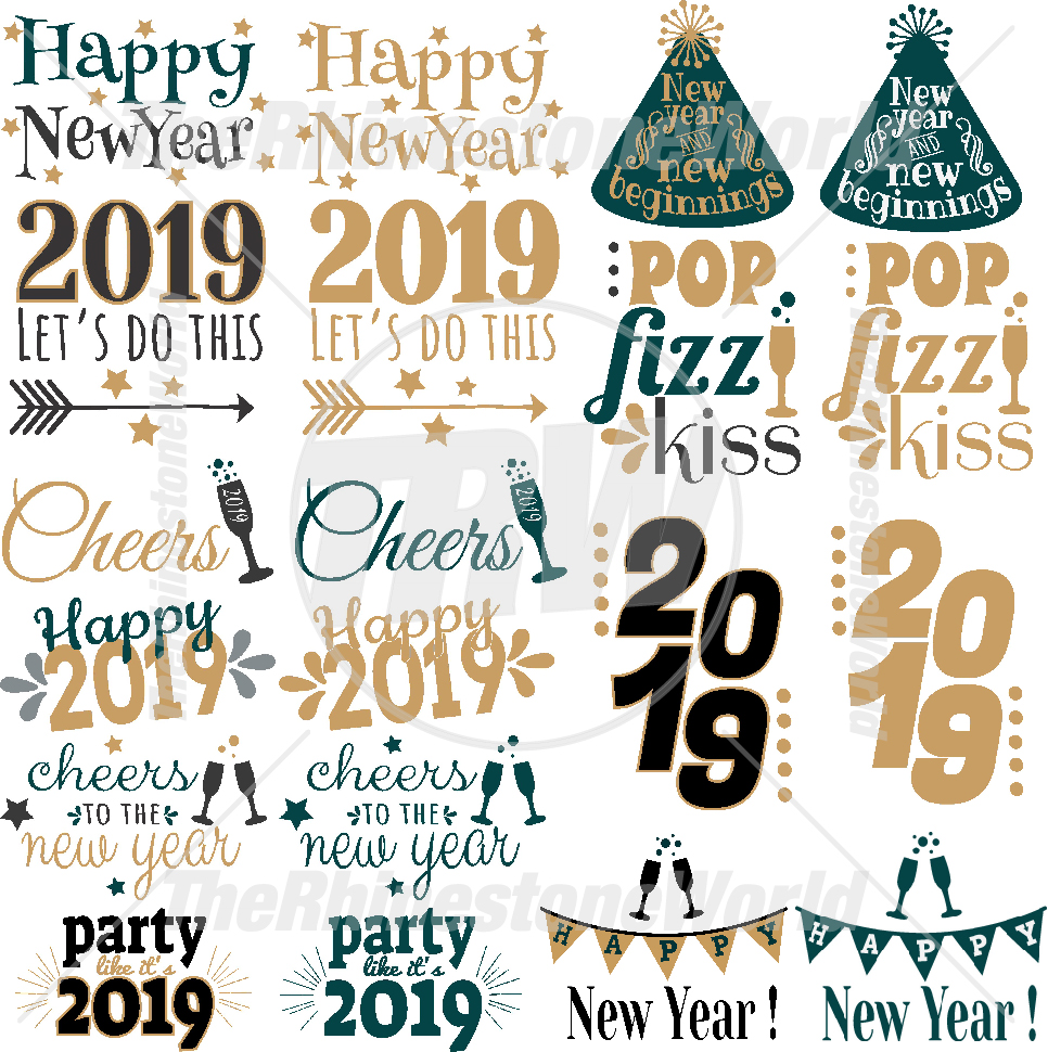 New Years Live Template Mini Pack