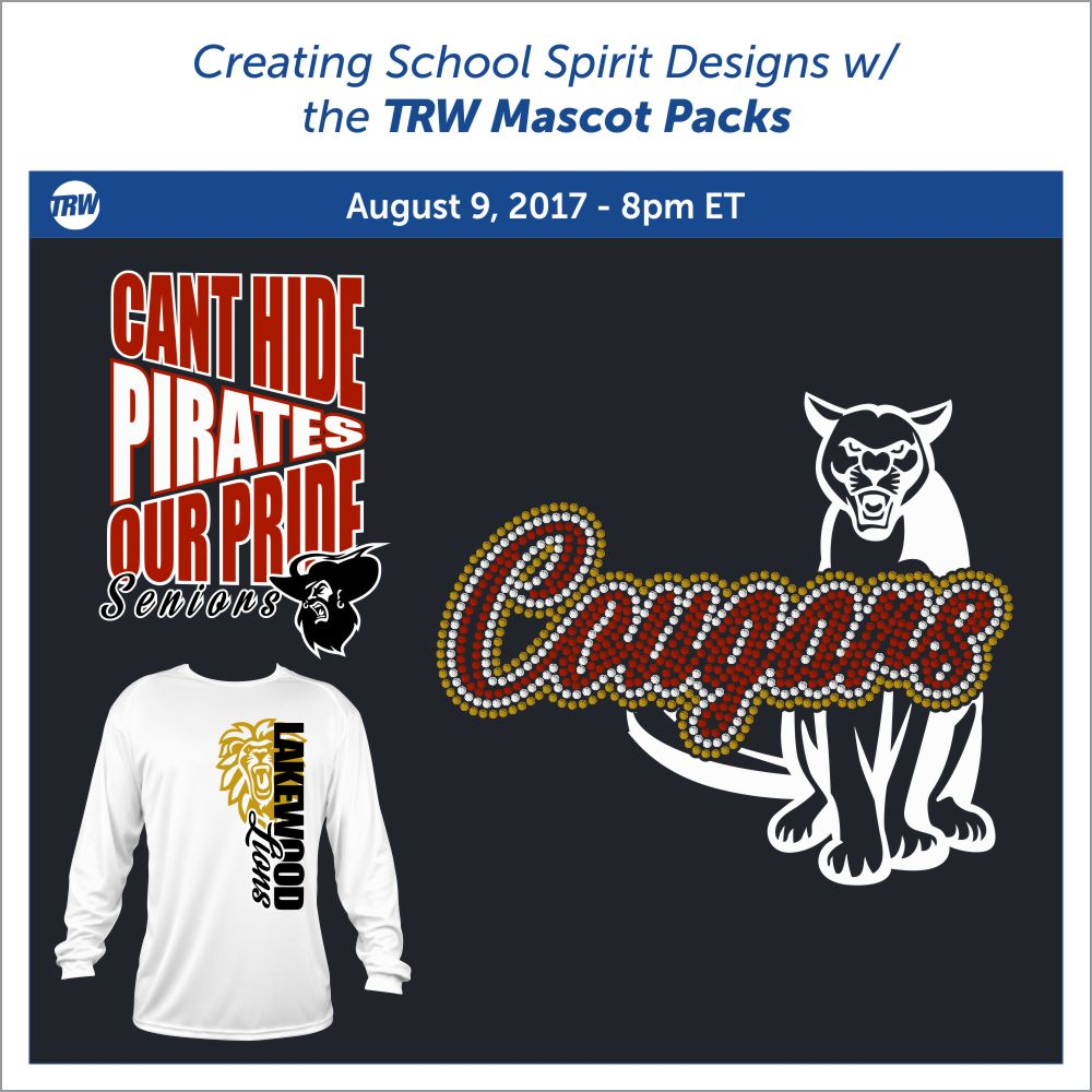 Creating School Spirit Designs August 9th, 2017