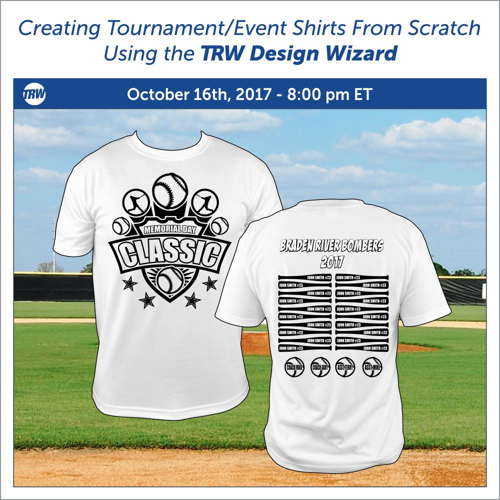 Creating Tournament Style Shirts From Scratch - October 16th, 2017