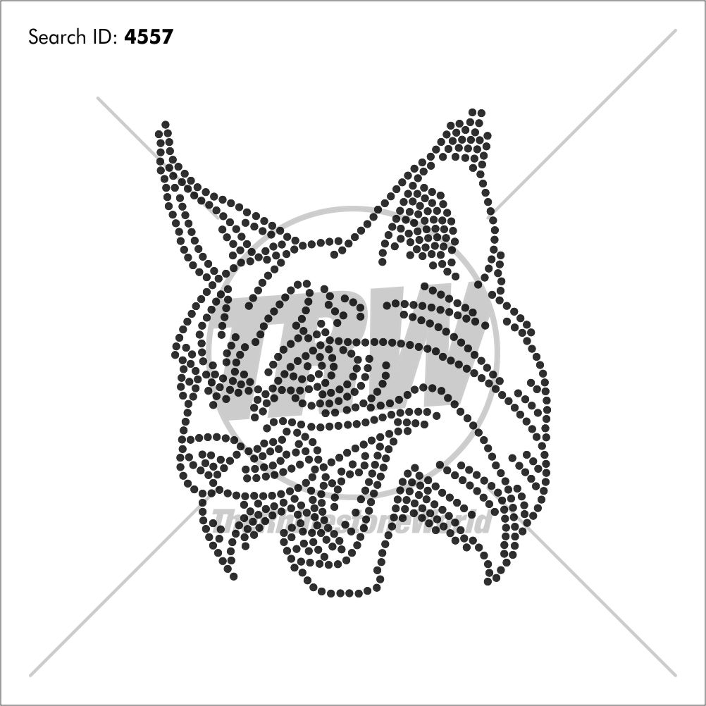 101 Bobcat Rhinestone Design - Pre-Cut Template