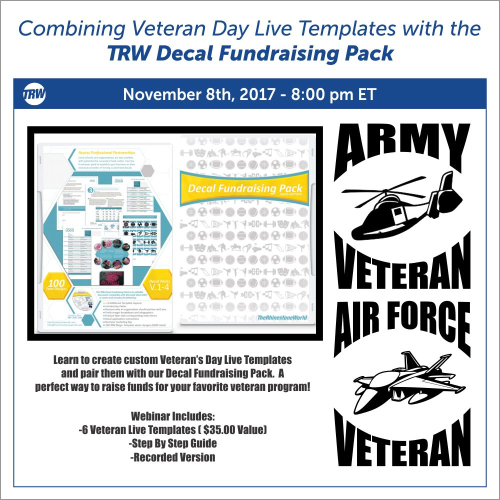11-8-17 Combining Veteran Live Templates and Decal Fund Pack