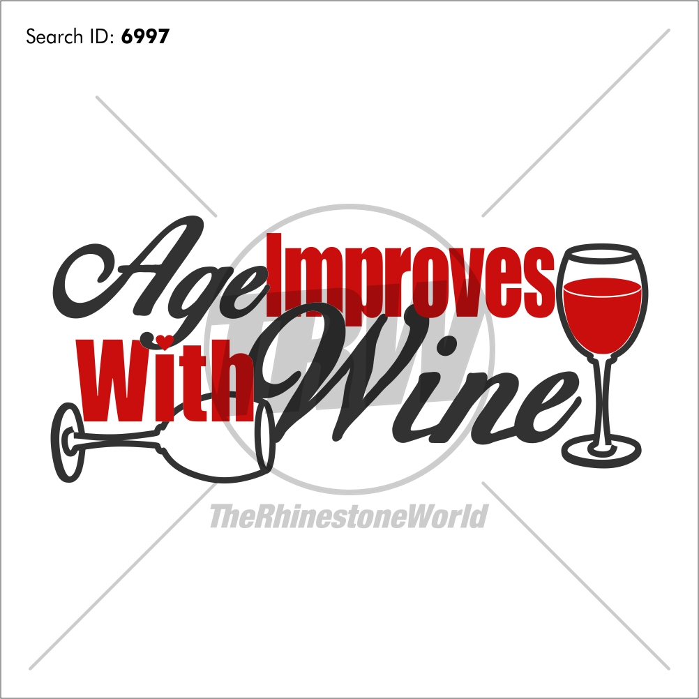 Age Improves with Wine Vector Design - Download