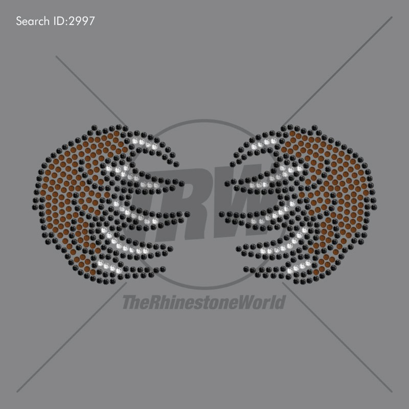 3 Color BEAR CLAW Rhinestone Design - Download
