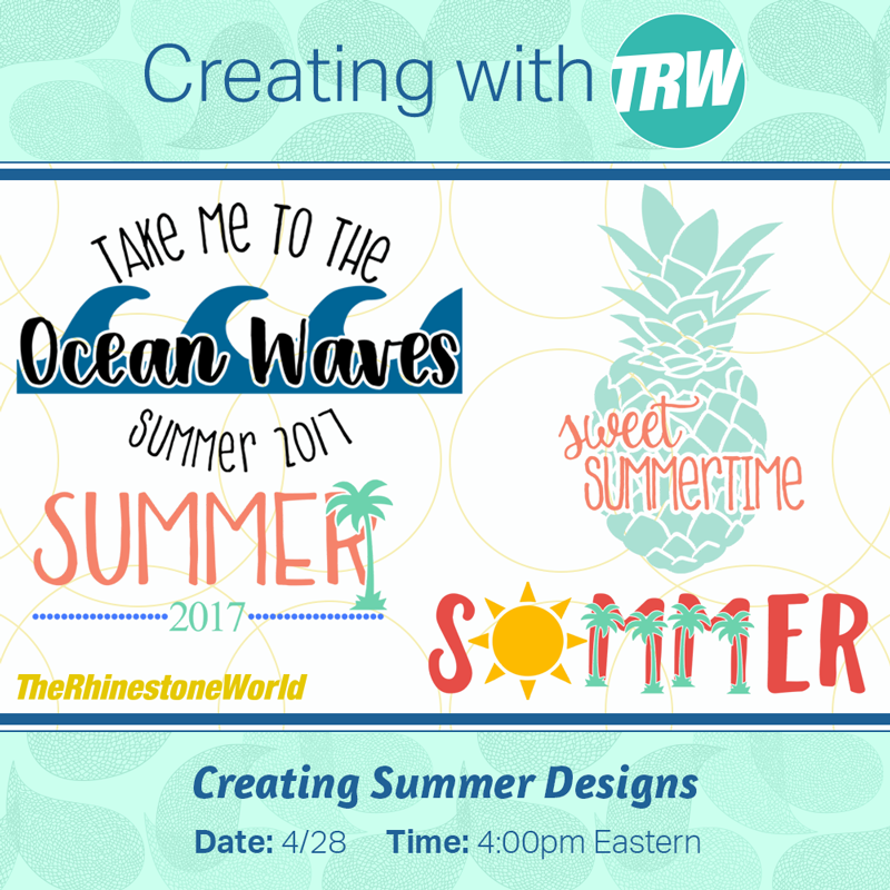 Creating Summer Designs in Silhouette Studio - April 28th, 2017