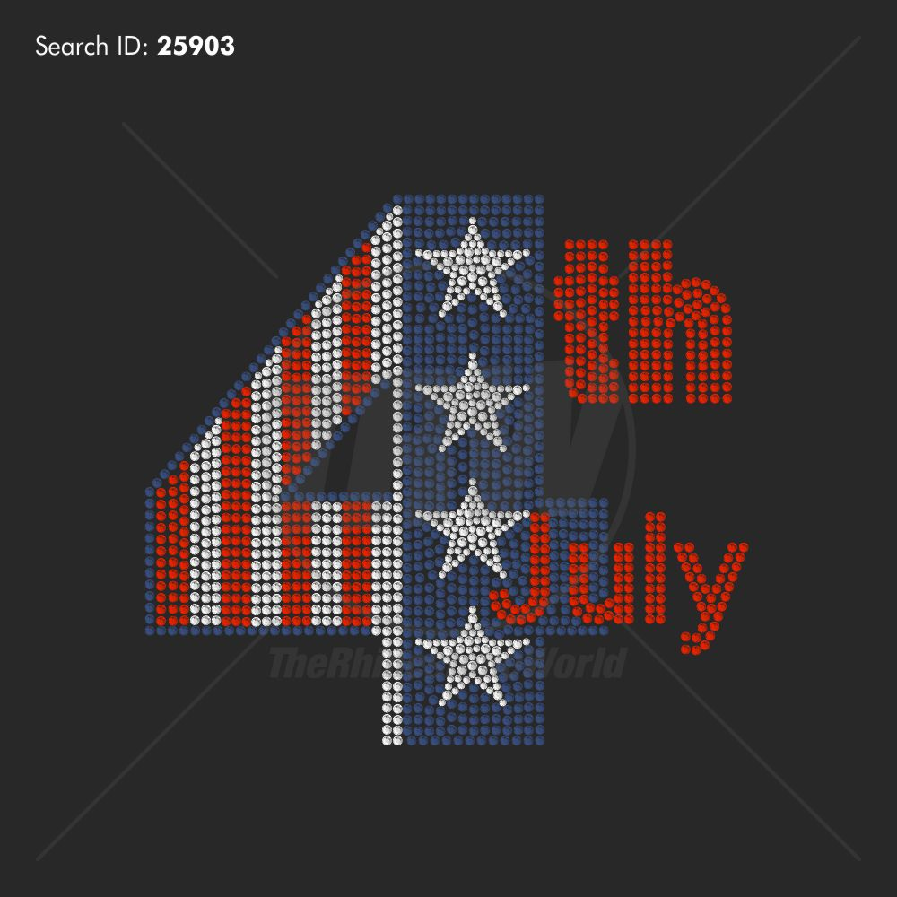 4th Of July 33 Rhinestone Design - Download