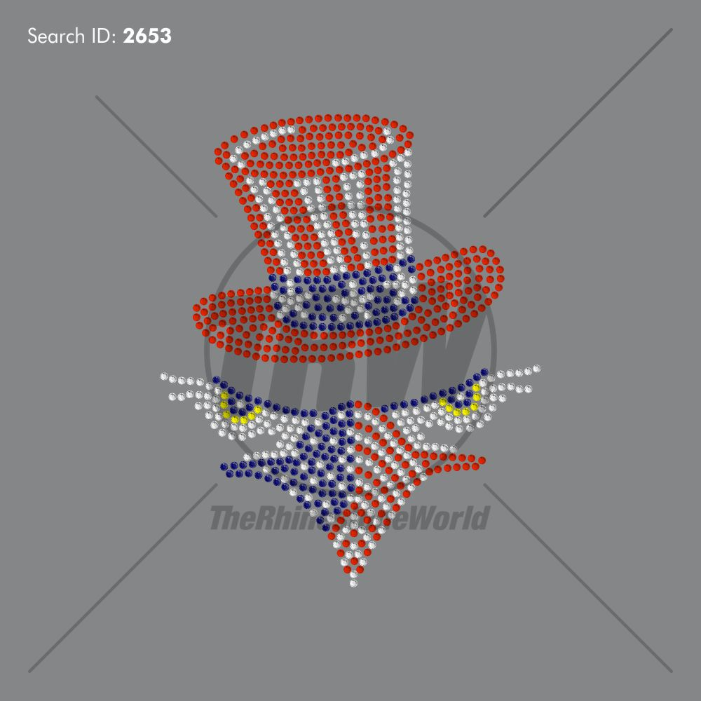 4th of July Eagle Rhinestone Design - Download