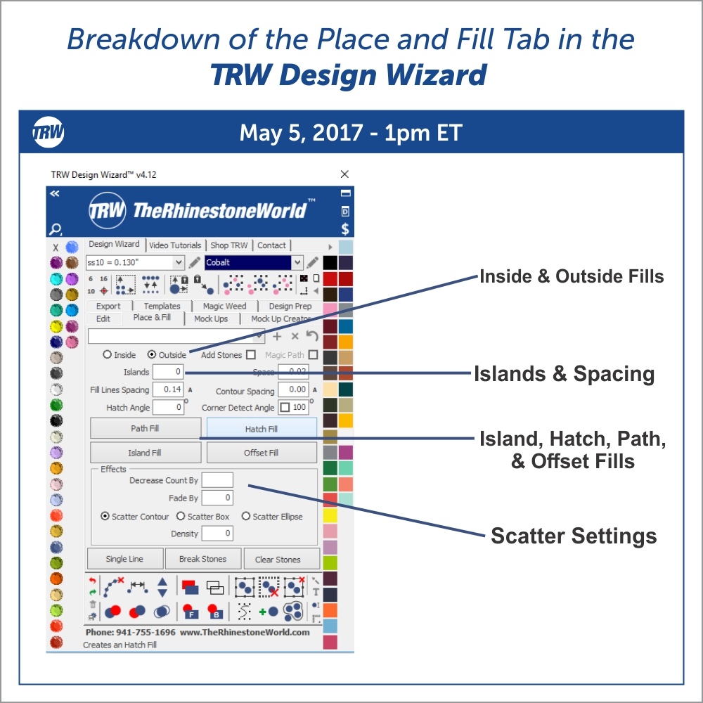 Breakdown of the Place and Fill Tab - May 5th, 2017
