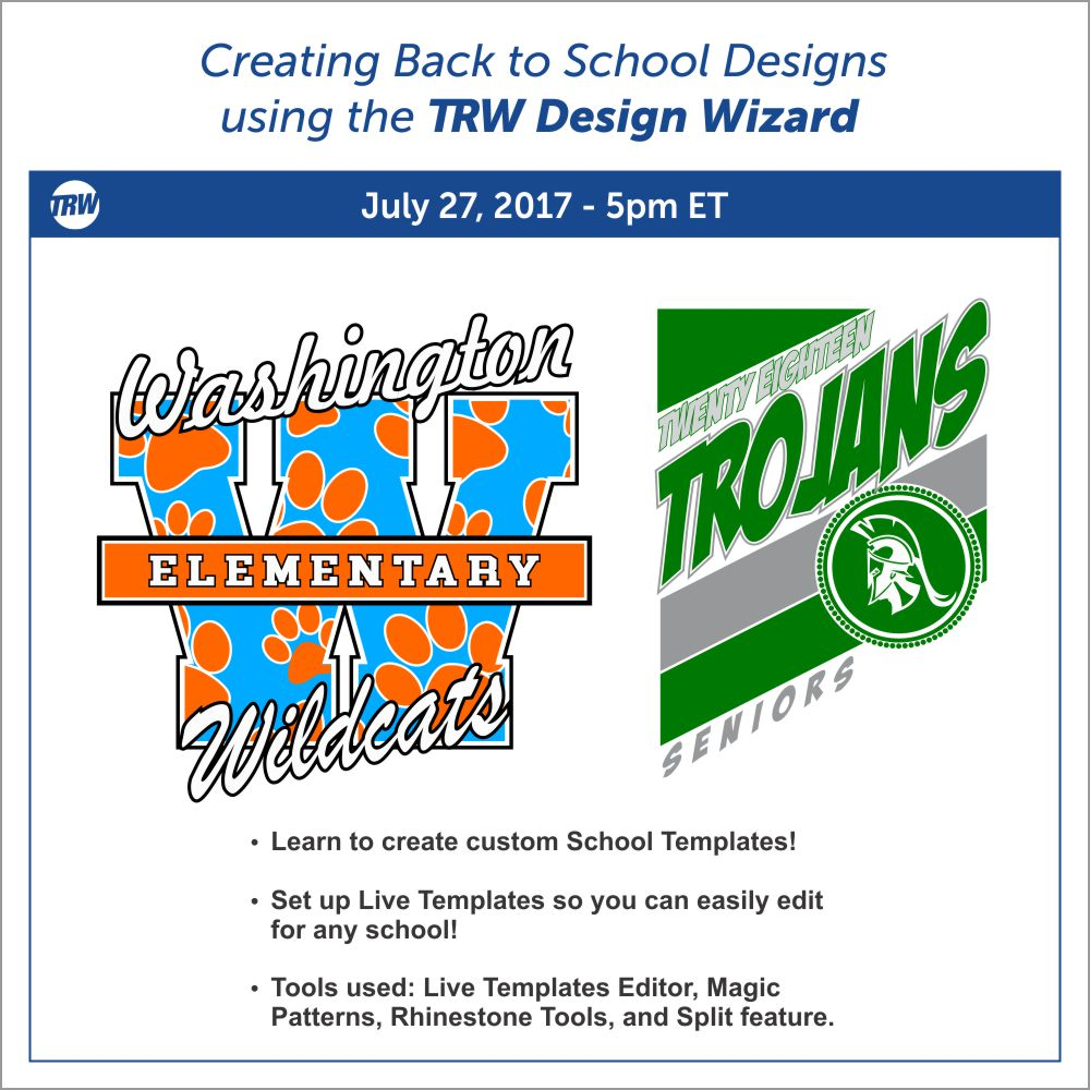 7/27/17 Creating Back to School Designs