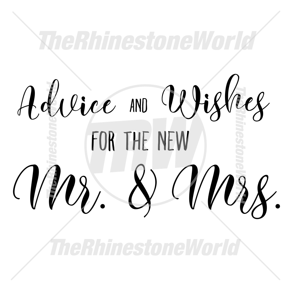 Advice and Wishes Wedding Vector - Download