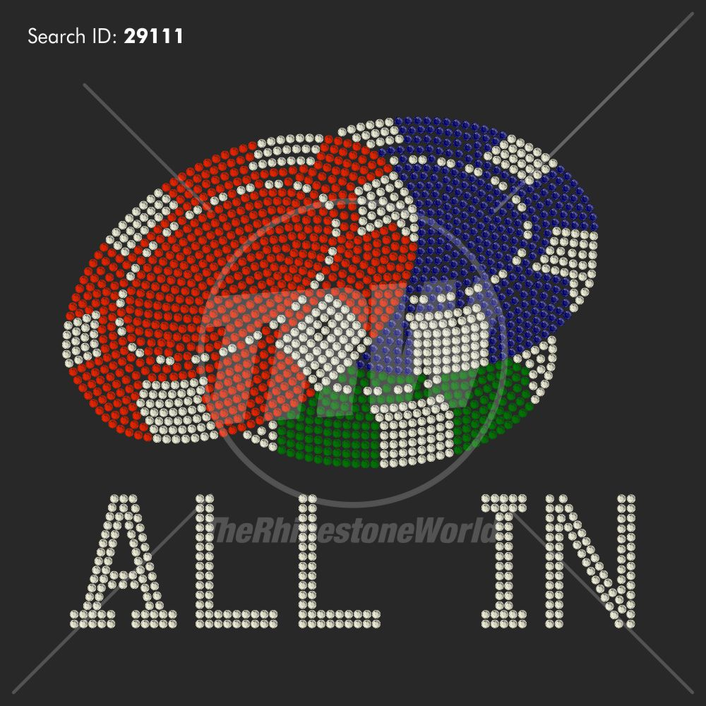 All In Chips Rhinestone Design - Download
