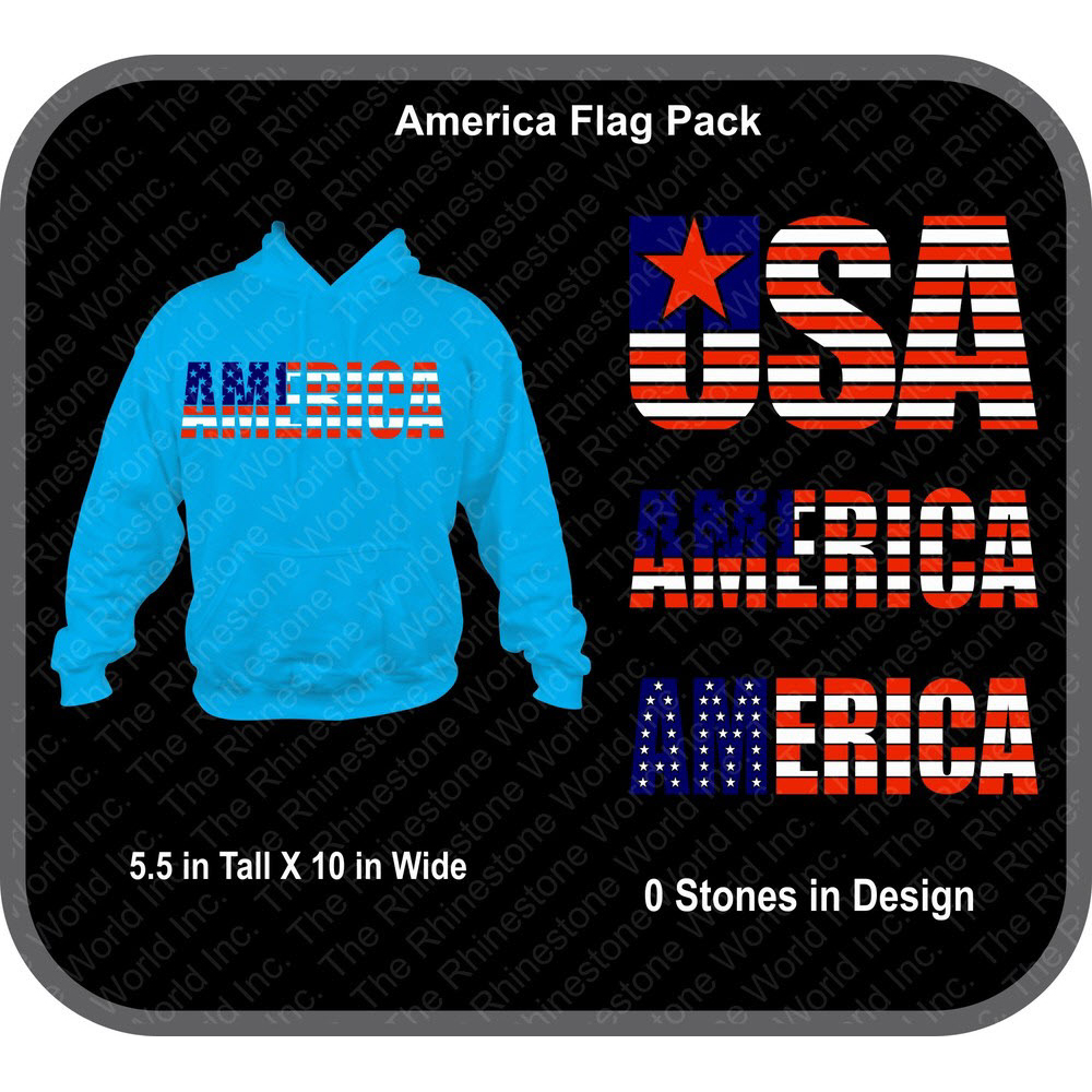 America Flag Pack Vector Designs - Download