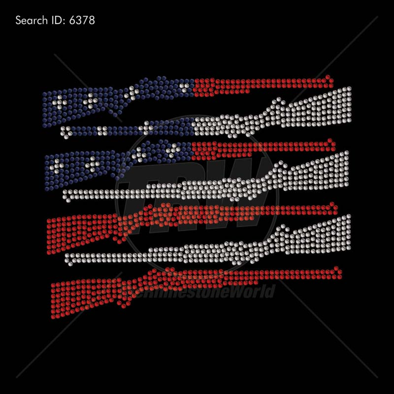 American Flag Rifle - Pre-Cut Template